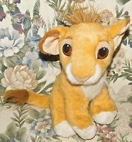 "Authentic 1993 Disney Lion King Plush Stuffed Animal Movie Toy Purring Simba 10"""