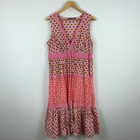 Sussan Womens Dress XL Extra Large Pink Floral Sleeveless V-Neck Boho
