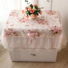 Dust-proof Pink Flower Decoration Rectangular Table Cover Lace Table Cloths
