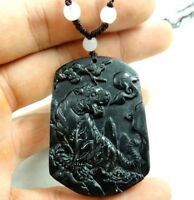 Beautiful 100% Chinese jade hand-carved the statue of tiger PENDANT