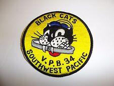 b5823 WW 2 US Navy Vpb 34 Patrol Bombing Squadron Black Cats IR26E