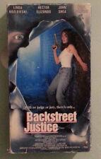 linda kozlowski BACKSTREET JUSTICE john shea / paul sorvino  VHS VIDEOTAPE