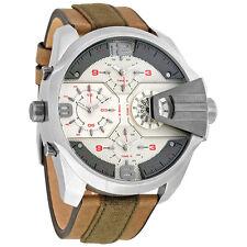 Brand New Diesel Men 55mm UBER CHIEF 4 Time Zone Watch DZ7375