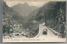 CALACUCCIA DÉFILÉ DE LA SCALA SANTA REGINA cartolina non viaggiata Corsica auto
