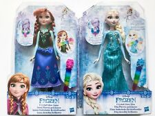 Disney Frozen Crystal Glow Elsa & Anna Dolls with Accessories Toy