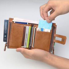 Mens Mans GENUINE Leather Wallet Credit Card Gents Wallets with Zip Coin Pocket