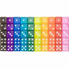 50-pack Translucent 6-sided Game Dice, 10 Sets of Vintage Colors, 16mm Dice