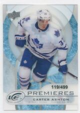 12/13 UPPER DECK ICE ROOKIE RC #43 CARTER ASHTON 119/499 MAPLE LEAFS *52647