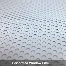 White Perforated One Way Vision Window Vinyl Film Wrap Car Headlight Tint