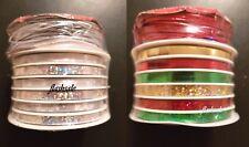 2 x Natale Accessorio Pack Set lucido fiocchi nastri Corda Elastica Craft Regalo Wrap