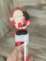 VINTAGE CHRISTMAS SANTA CLAUS CANDY CONTAINER RED PLASTIC