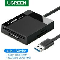 Ugreen SD Card Reader USB 3.0 Card Hub Adapter 5Gbps for SD, Micro SD, MS UHS-I