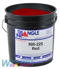 Triangle Ink 900-225 Red silk screen printing plastisol 1 Gallon (3.78L)