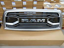 2013-18 DODGE RAM 2500 3500 PLATINUM STAINLESS RAM FRONT GRILLE OEM# 6NE51SZ7AB