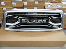 2013-18 DODGE RAM 2500 3500 PLATINUM STAINLESS RAM FRONT GRILLE OEM# 6NE51SZ7AB