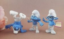 Smurf Figurines Three (3) McDonalds Happy Meal Toys 2013 Brainy Hefty Grouchy