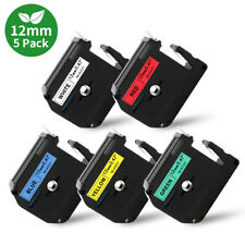 5pk Label Tape Mk 231 731 M K231 12mm Compatible For Brother P Touch Pt 75 80 90