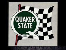 QUAKER STATE Motor Oil - Original Vintage 1960's 70's Racing Decal/Sticker