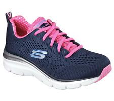Women's Sketchers Statement Piece Sneaker Navy / Pink Size 11 #NG4EE-153
