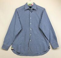 Lilly Pulitzer Men's Blue/White Wyeth Gingham L/S Shirt ~ Size Large