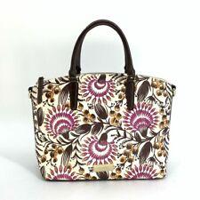 Brahmin Medium Duxbury Monarch Berry Floral Leather Bag Handbag Purse 247