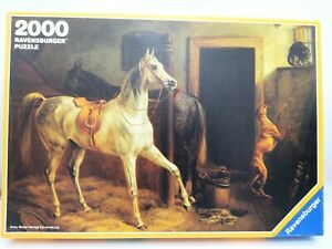 2000 Pieces Puzzle - IN Horse Stable - Artothek/Carpenters - Ravensburger Rarity