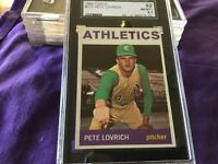 1964 Topps # 212  Pete Lovrich   SGC 92 NMMT+   KANSAS CITY ATHLETICS