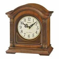 *Brand New* Seiko Brown Wooden Case Chiming Desk Table Clock Qxj029Blh