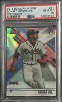 2018 Bowman Best Ronald Acuna Jr Refractor Rookie RC PSA 10 Gem mint Low Pop