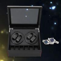 Carbon Fiber Montre Automatique Watch Winder Box Coffret boîte pour 4+6 montres
