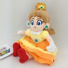 "Princess Daisy Super Mario Bros Yellow Flower Soft Plush Toy Stuffed Animal 7"""