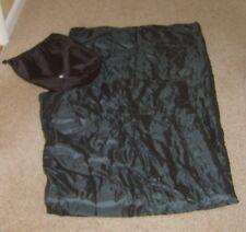 Teens Junior Sleeping Bag in Khaki Green with Carry Sack Used