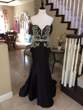 $680 NWT BLACK JOVANI PROM/PAGEANT/FORMAL DRESS/GOWN #29158 SIZE 8