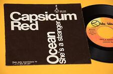 """CAPSICUM RED 7"""" 45 (NO LP ) OCEAN 1°ST ORIG ITALY PROG 1971 EX GATEFOLD COVER"""