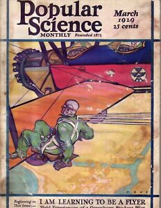 1929 Popular Science - March - Thomas Edison; Wright Brothers; Scotty Allan