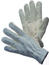 1 DZ 12 PAIRS LARGE COW GRAIN LEATHER DRIVER WORK GLOVES