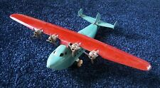 "Vintage Wyandotte CHINA CLIPPER Pressed Steel Toy Airplane ~ 13"" Wingspan"