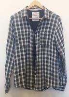 Cedarwood State Blue Shirt Size M Check <J7241
