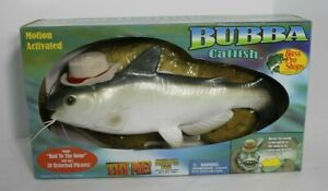 New Vintage Bubba Catfish Motion Activated Singing Fish W/ Box Gemmy Bass Pro
