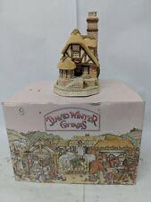 Vintage David Winter Cottages Audrey's Tea Shop Ceramic Model w/ Box & Coa