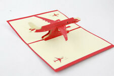 3D Pop Up Greeting Card Kirigami Birthday PLANE AEROPLANE Airliner Airplane