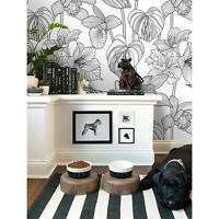 Floral Removable wallpaper green and white wall mural wall cover in