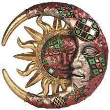 Sun And Moon Wall Decor mount plaque small Hanging Home Outdoor Decor metal art