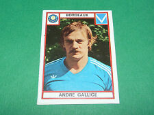 GALLICE BORDEAUX GIRONDINS LESCURE RECUPERATION PANINI FOOTBALL 76 1975-1976