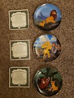 Bradford Exchange 3 Disney Lion King Collectors Plates