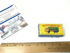 MATCHBOX by LESNEY Series 4 ~ STAKE TRUCK ~ Yellow & Green ~ With Box