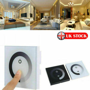 12V-24V Wall Mounted Switch DC Touch Panel LED Lights Dimmer Smart Controller UK