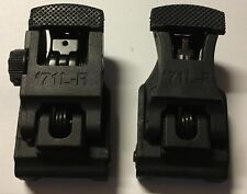 ARMS A.R.M.S. Style  #71L Flip Up Sights BUS Folding Front + Rear SET