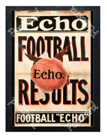 Historic London Football Echo news 1900s Advertising Postcard