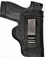 Pro Carry LT RH LH OWB IWB Leather Gun Holster For S&W Bodyguard 380 w/ CT Laser